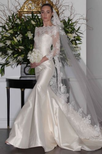 detachable wedding dresses Romona Keveza fall lace wedding dress