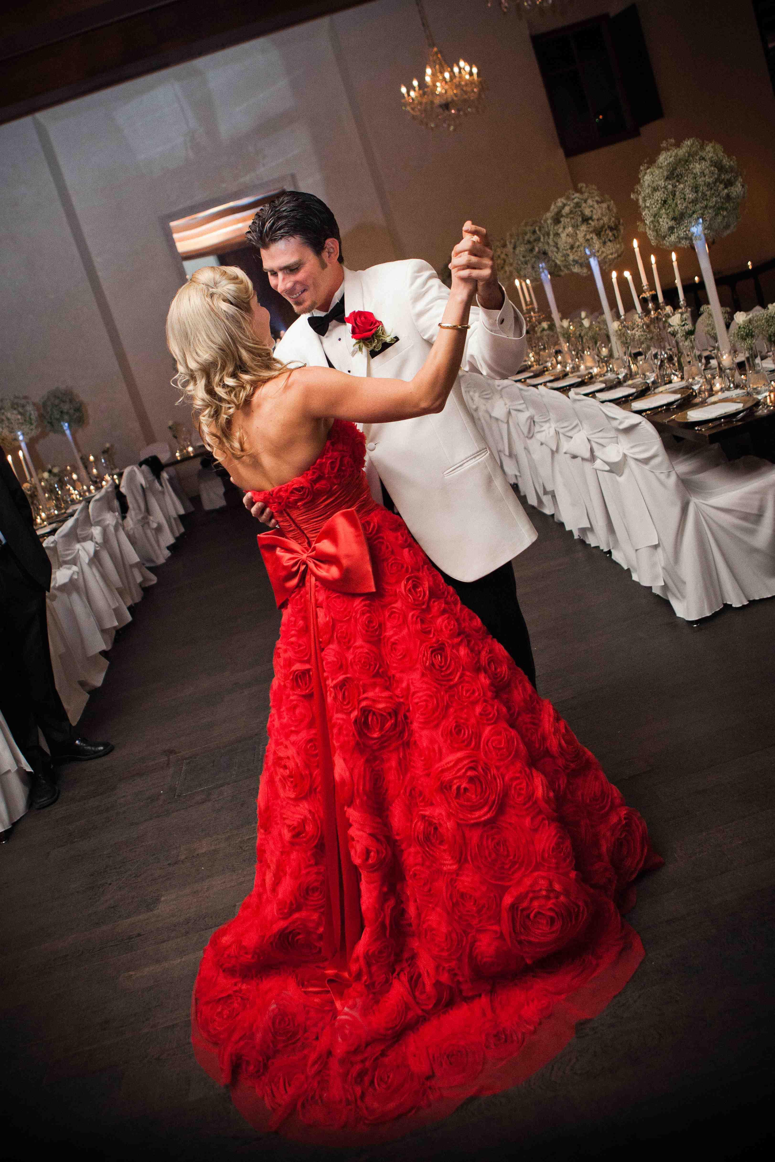 reception wedding dresses dramatic red reception dress