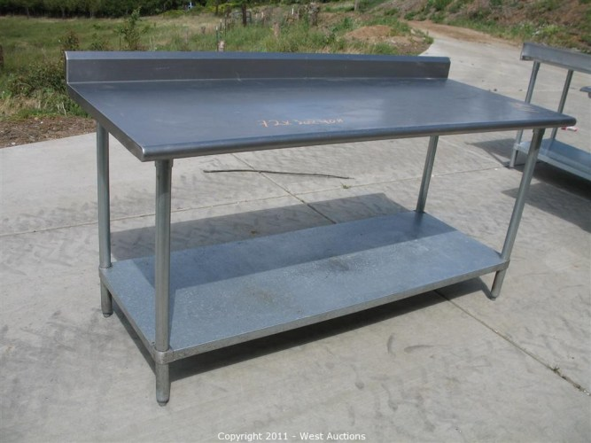 stainless steel commercial work prep table with back splash 6 long kitchen prep table Pizza Restaurant Equipment and Furniture in Loomis CA