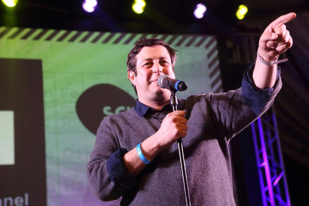Too Small To Fail   Boston Still A Training Ground For Budding     Comedian Eugene Mirman  pictured here performing during the 2014 SXSW  Festival in Austin  Texas