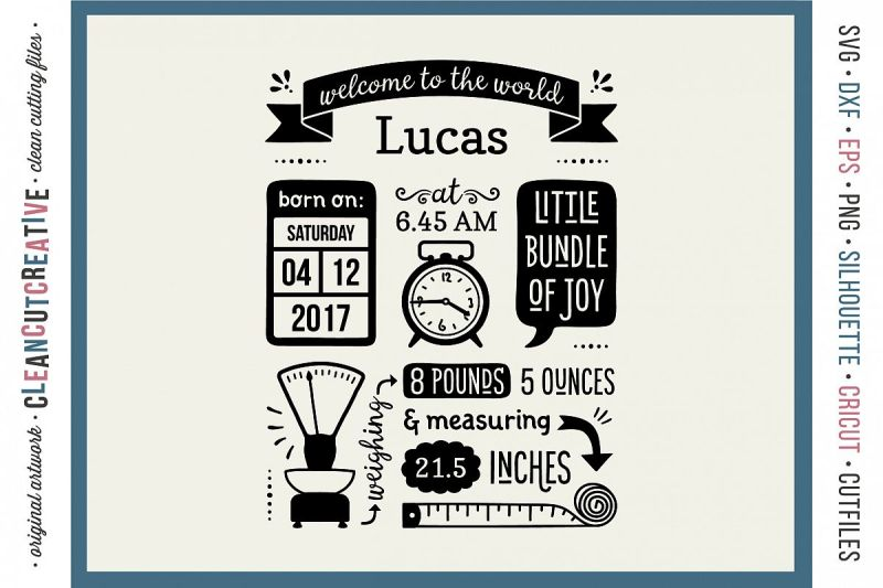 Large Of Birth Announcement Template