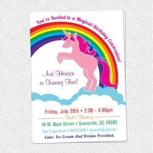 Terrific Il Original Unicorn Birthday Party Girl Invitations Amazon City
