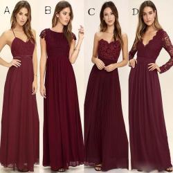 Small Of Burgundy Bridesmaid Dresses