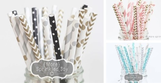 Patterned Straws