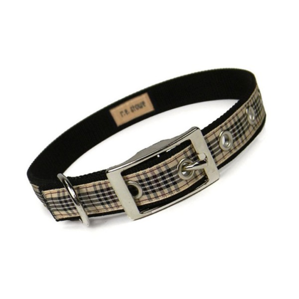 image blackberry plaid dog collar