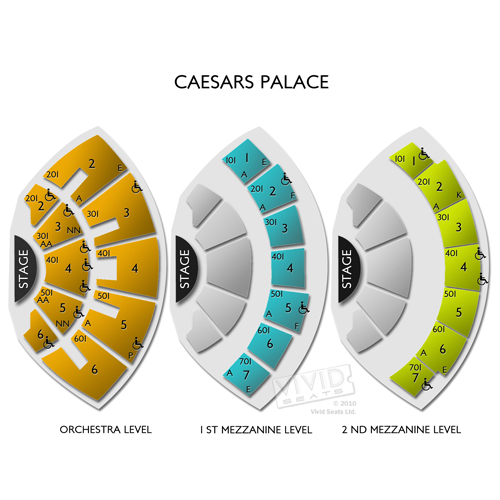 Caesars Palace Seating Chart
