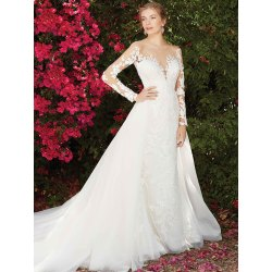 Small Crop Of Long Sleeve Lace Wedding Dress