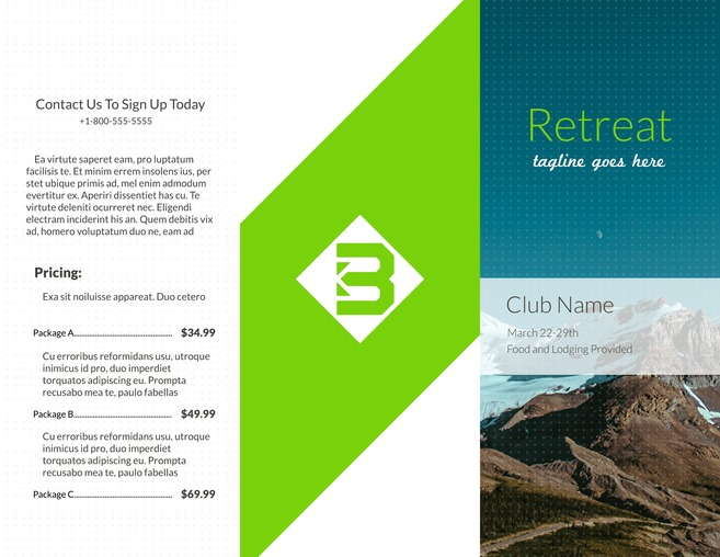Free Travel Brochure Templates   Examples  8 Free Templates  Free Spa Brochure Template