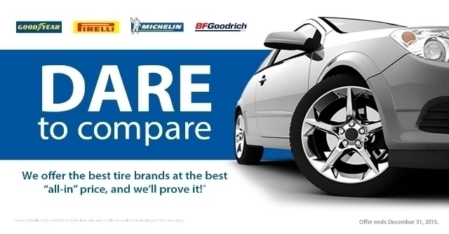 Don't miss Sam's Club #DaretoCompare Tire Event going on now! #ad