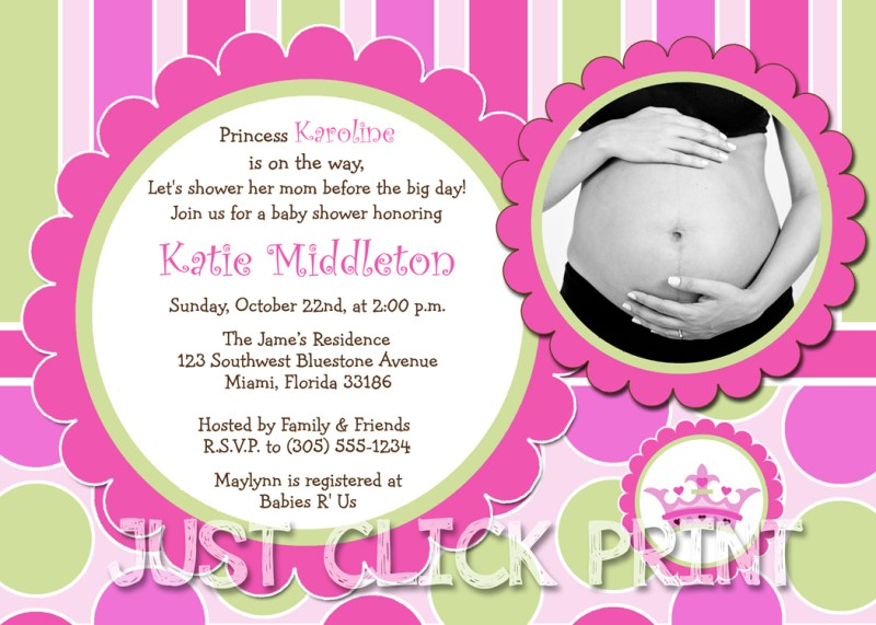 Large Of Princess Baby Shower Invitations