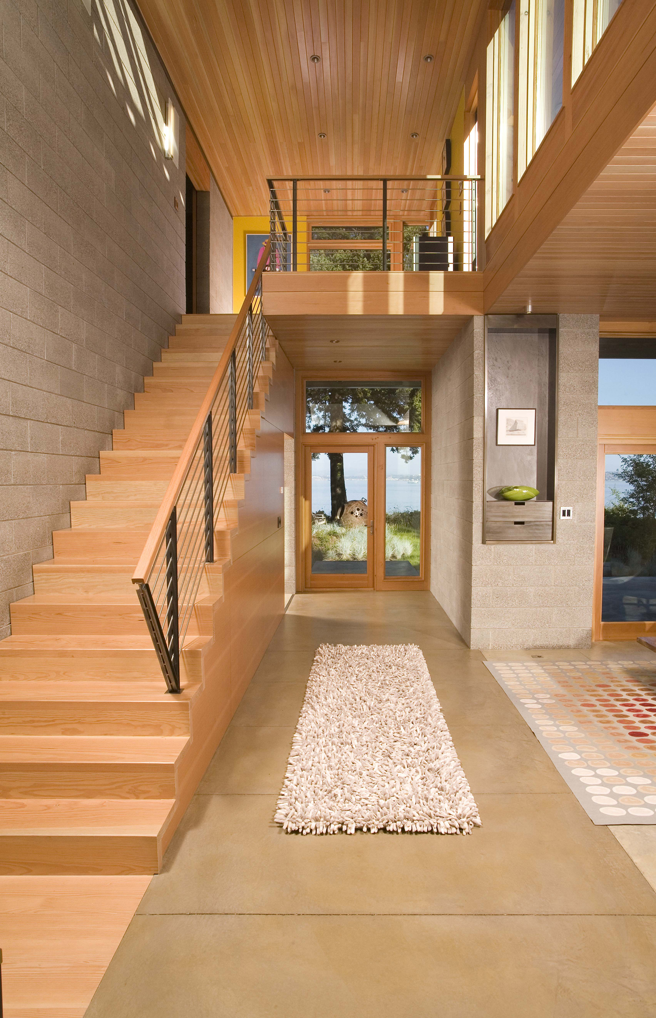 Astonishing Main Hallway Home Designs By Coates Design Architects Home Ceiling Ideas Home Ceiling Decoration More Over Wood home decor Modern Home Ceilings