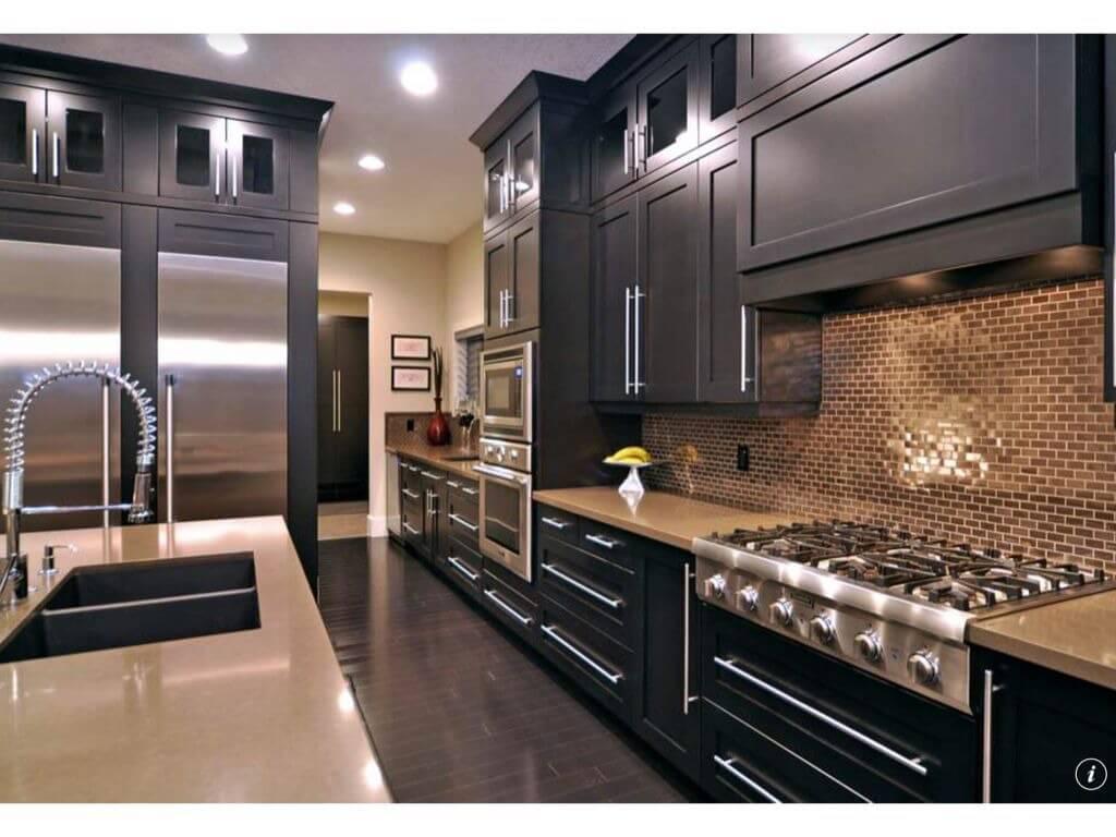 galley kitchen design ideas new kitchen ideas Here s a dark galley kitchen that s relatively narrow