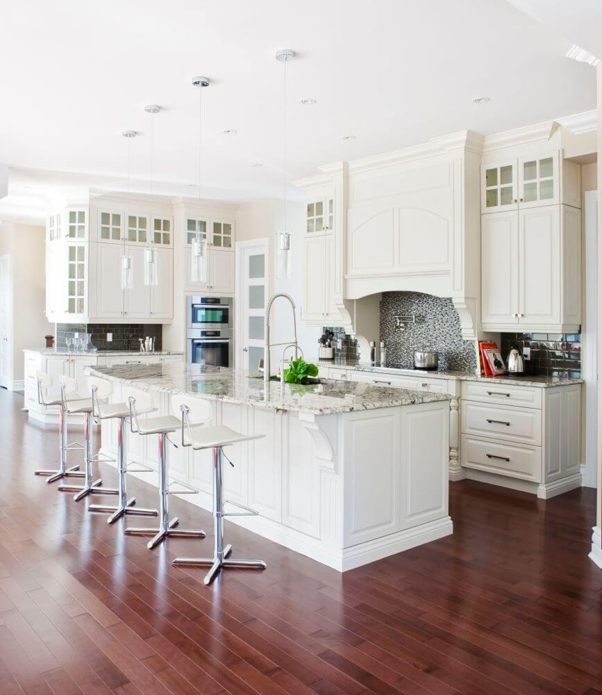 Beauteous A Rich Red Hardwood Contrasts Ly Cabinetryand Marble Counters This Rectangular Kitchen Designs Rectangular Kitchen Design Island Rectangular Kitchen Designs kitchen Rectangular Kitchen Design