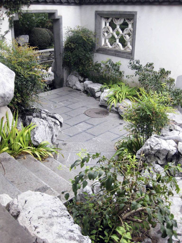 Relieving Here We See A Concrete Stairway Leading To A Small Patio Rocks Backyard Rock Garden Ideas Rock Garden Small Backyard outdoor Rock Garden Ideas For Backyard