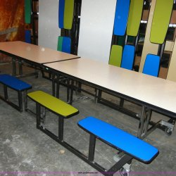 8 12 Fold Up Picnic Lunchroom Tables Item 2374 Sold
