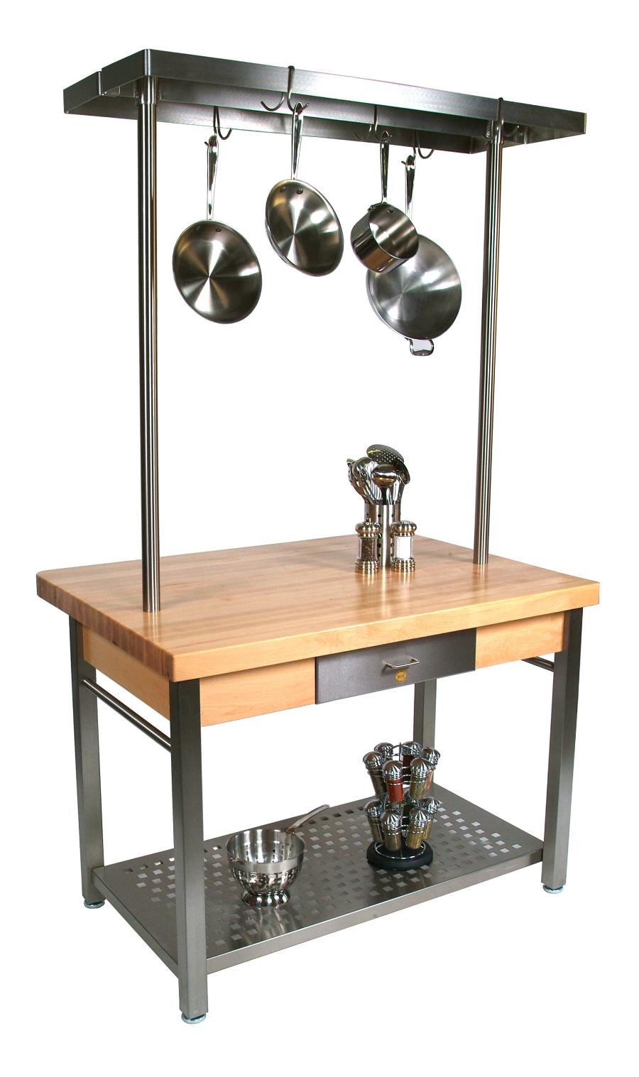 cugrwota kitchen prep tables John Boos Cucina Grande Kitchen Work Table Model GUCG
