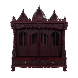Sevan Wood Carving With Door Pooja Temple for Home 240913_2945