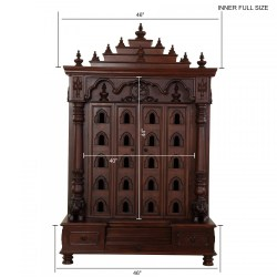 Teak Woode Temple With Door Carving Work for Usa Home
