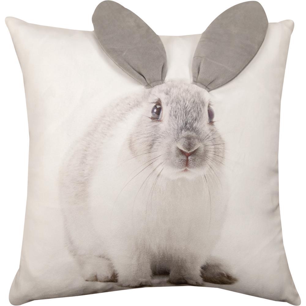 Brilliant Tap Bunny Throw Pillow Animal Rescue Site Throw Pillows Bed Throw Pillows 24x24 decor White Throw Pillows