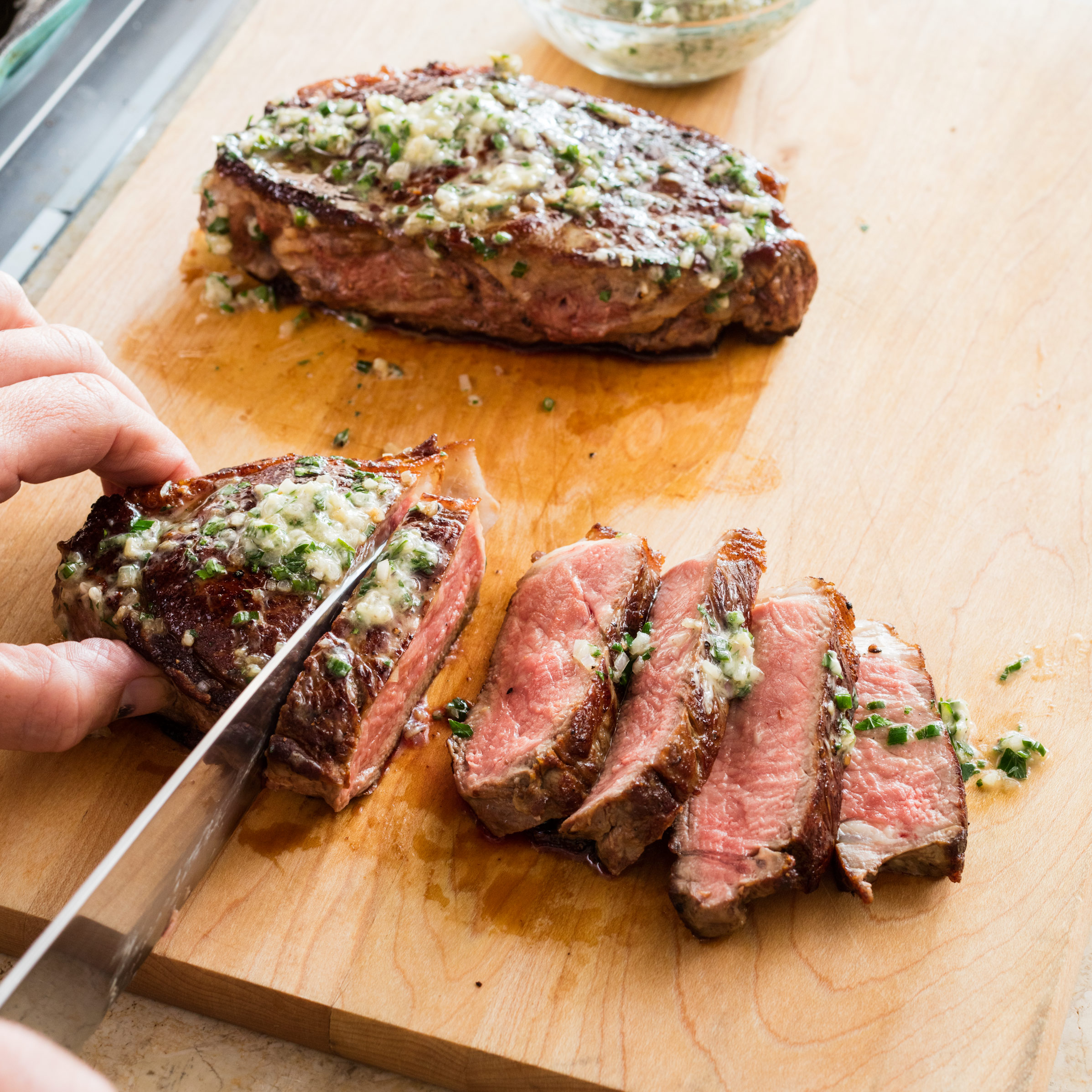 Elegant Sfs Thick Cut 20steaks 20with 20herb 20butter 034 Cowboy Butter Recipe Ree Drummond Cowboy Butter Ken Recipe nice food Cowboy Butter Recipe