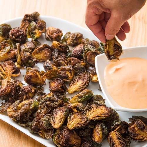 Medium Of Deep Fried Brussel Sprouts