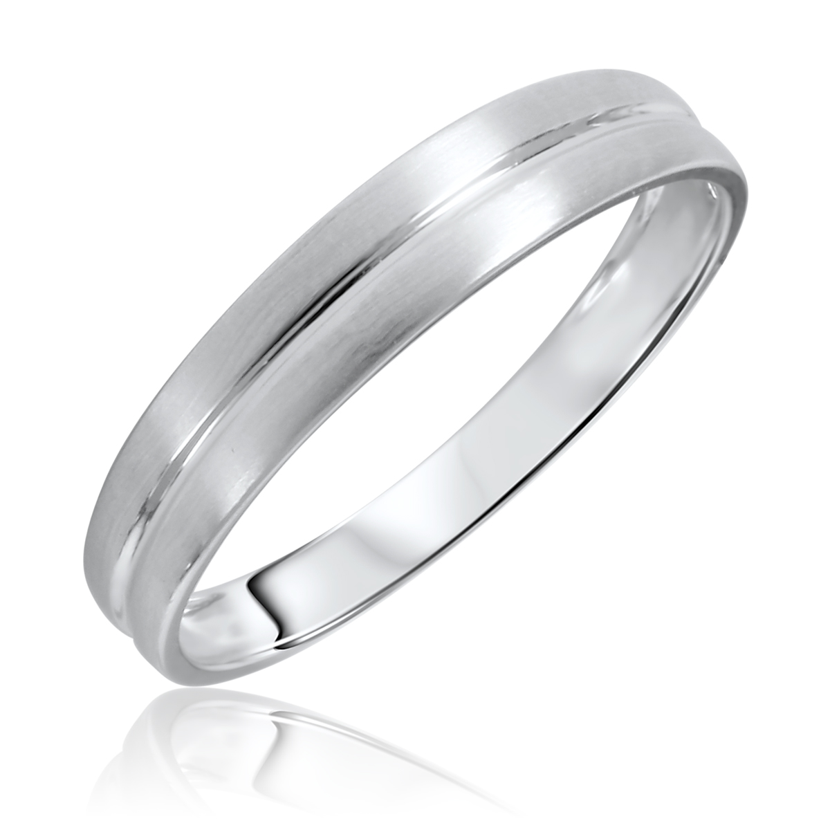mens wedding ring white gold wedding bands Traditional No Diamond 4 5 millimeter 10K White Gold Traditional Mens Wedding