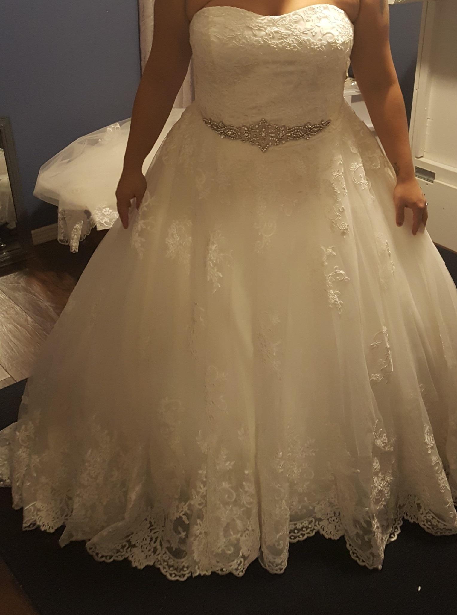 Ball Gown Sweetheart Court Train Tulle Lace Wedding Dress g jjshouse wedding dress pic1 jpeg