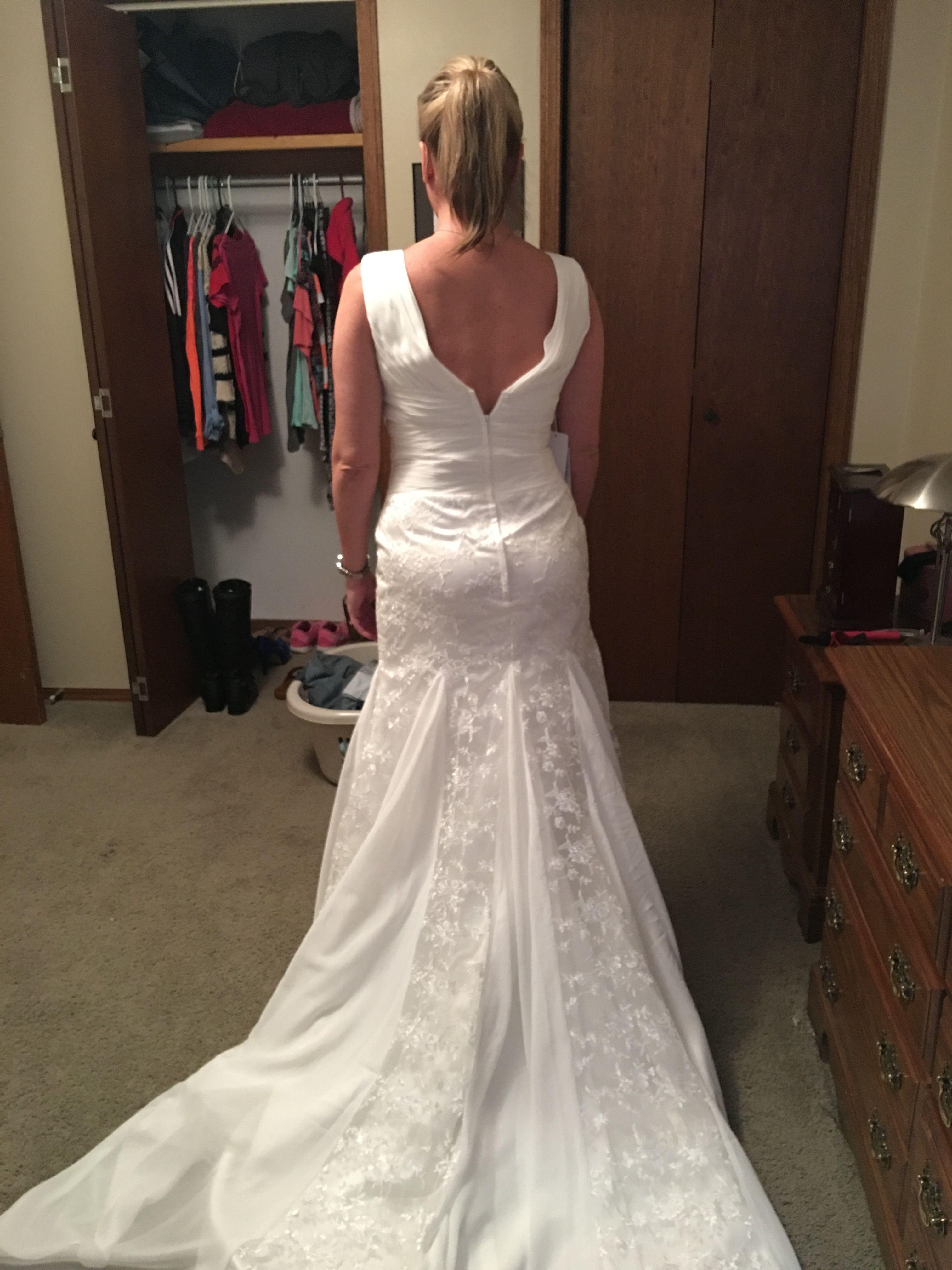 Trumpet Mermaid V Neck Court Train Chiffon Lace Wedding Dress With Ruffle g jjshouse wedding dress pic1 jpeg pic2 jpeg
