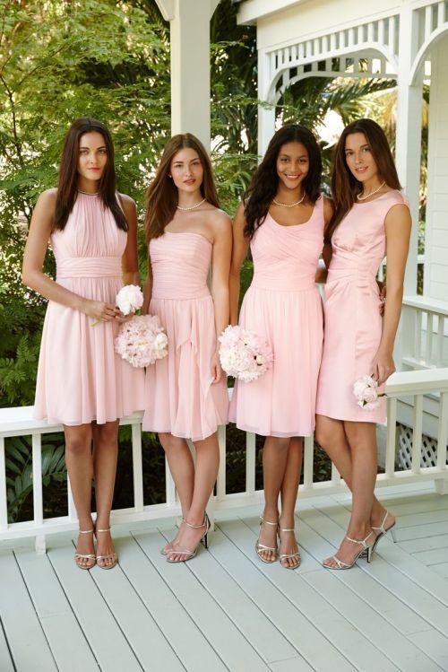 Medium Of Blush Pink Bridesmaid Dresses