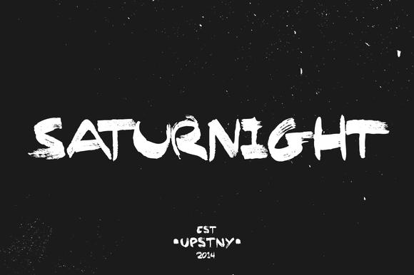 Saturnight - Brush Font Download