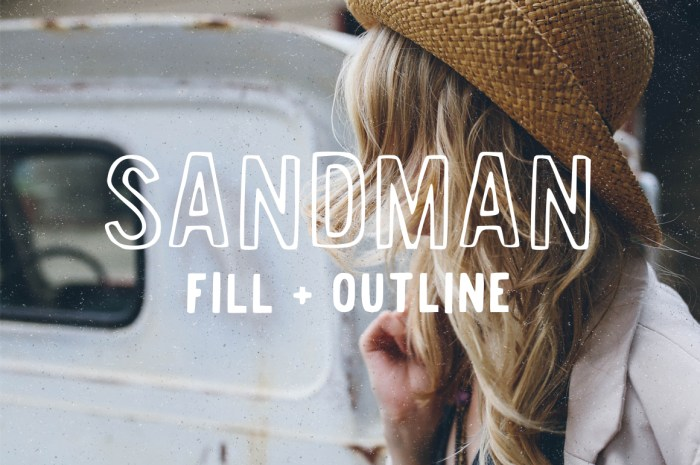 Sandman Fill and Outline Font Download
