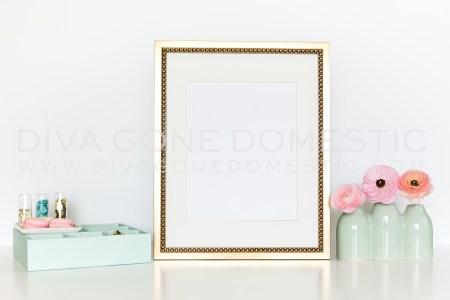 wm frame gold mint flowers o ?1430750993