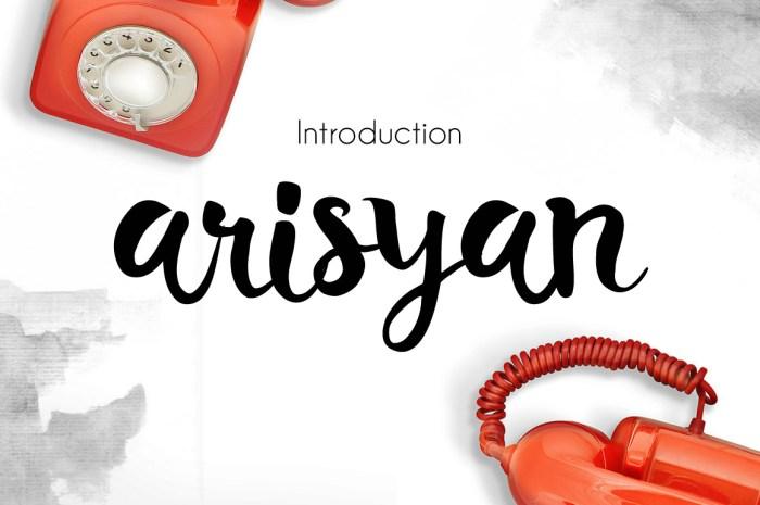 Arisyan Script Font Download