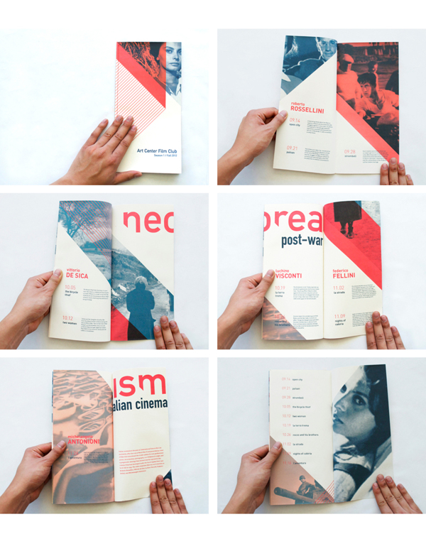How to Design a Stunning Brochure  30 Expert Tips and Templates     Italian Neorealism Cinema Series