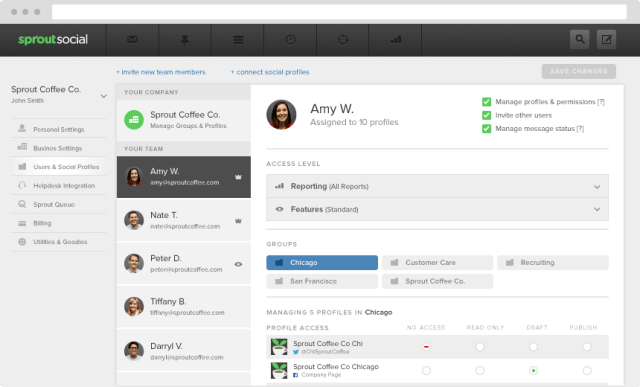 Sprout Social User Roles