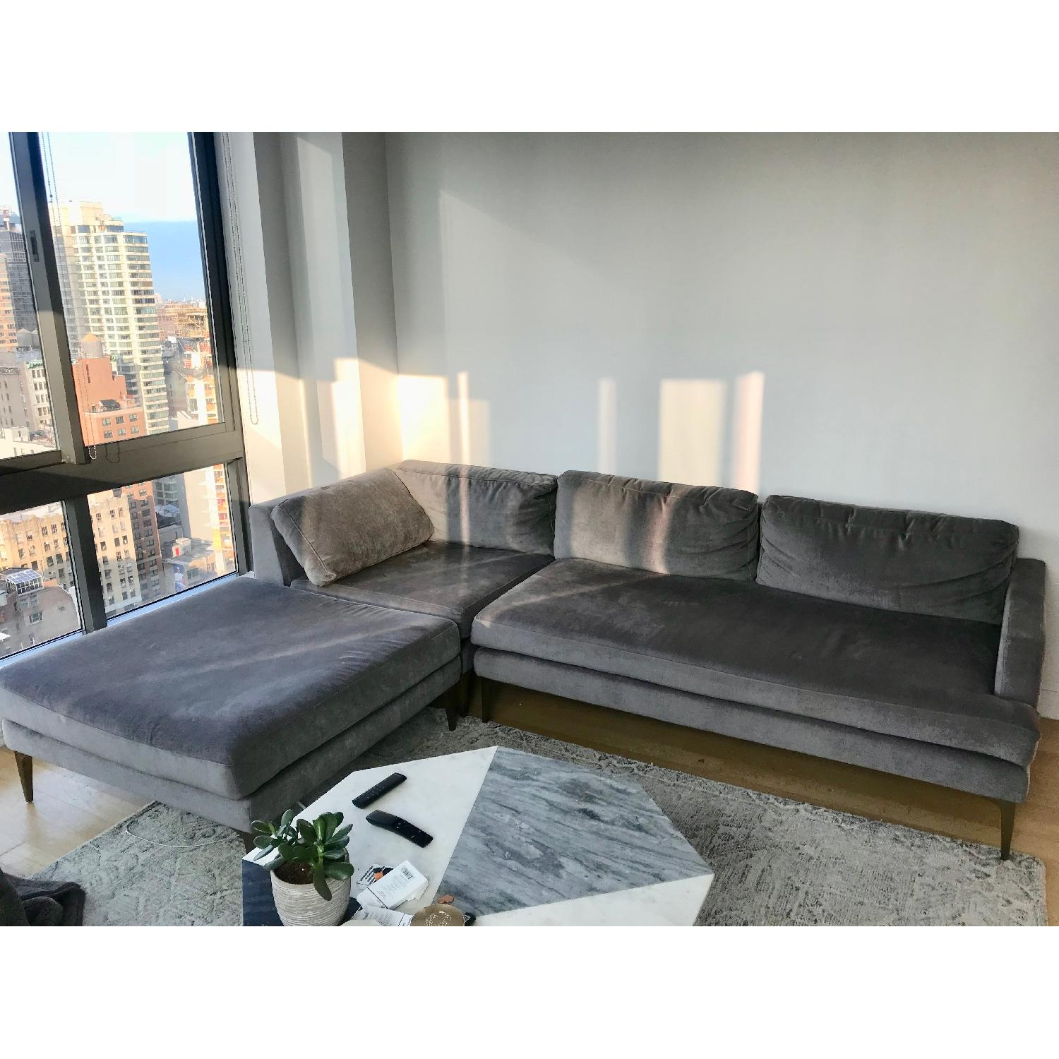 Admirable West Elm Andes Chaise Sectional West Elm Andes Chaise Sectional Sofa Aptdeco West Elm Sectional Andes West Elm Sectional Urban houzz 01 West Elm Sectional