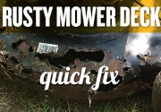 A temporary fix for a rusty mower deck