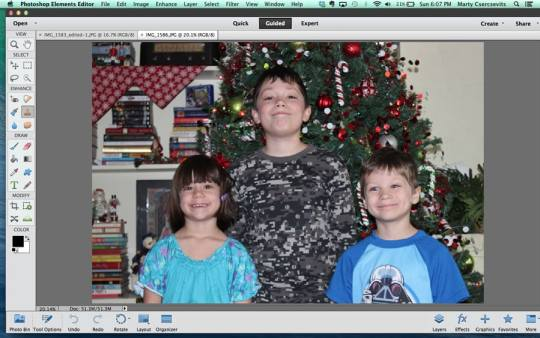 Use photoshop to fix family photos