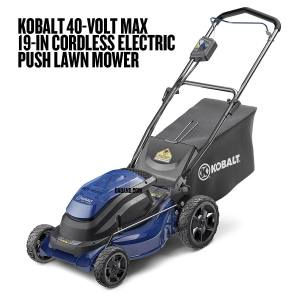 Kobalt 40-Volt Max 19-in Cordless Electric Push Lawn Mower