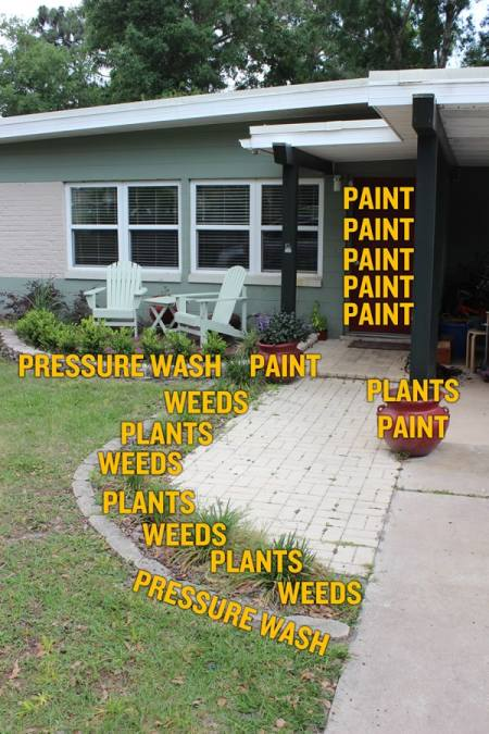 DIY dad blogger creates curb appeal with simple projects around the house