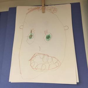 My sons selfportrait Do I call an exorcist now or?