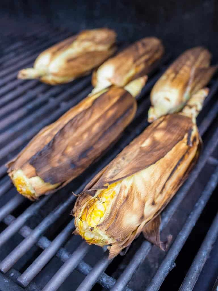 Grilled In The Husk Corn - Dad Cooks Dinner