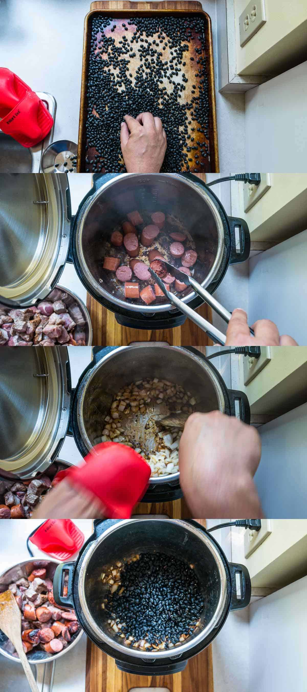 how to cook brazilian black beans in a pressure cooker