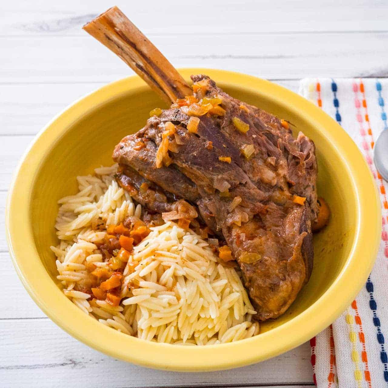 Pressure Cooker Lamb Shanks Recipe — Dishmaps