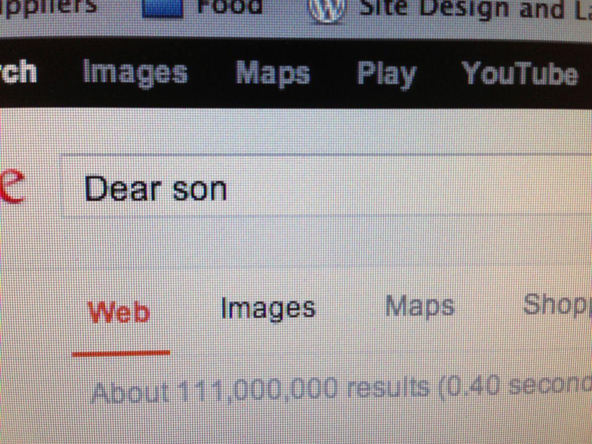 Dear Son,