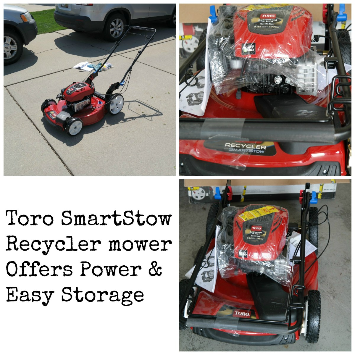 The Toro SmartStow Recycler Mower Offers Power & Easy Storage
