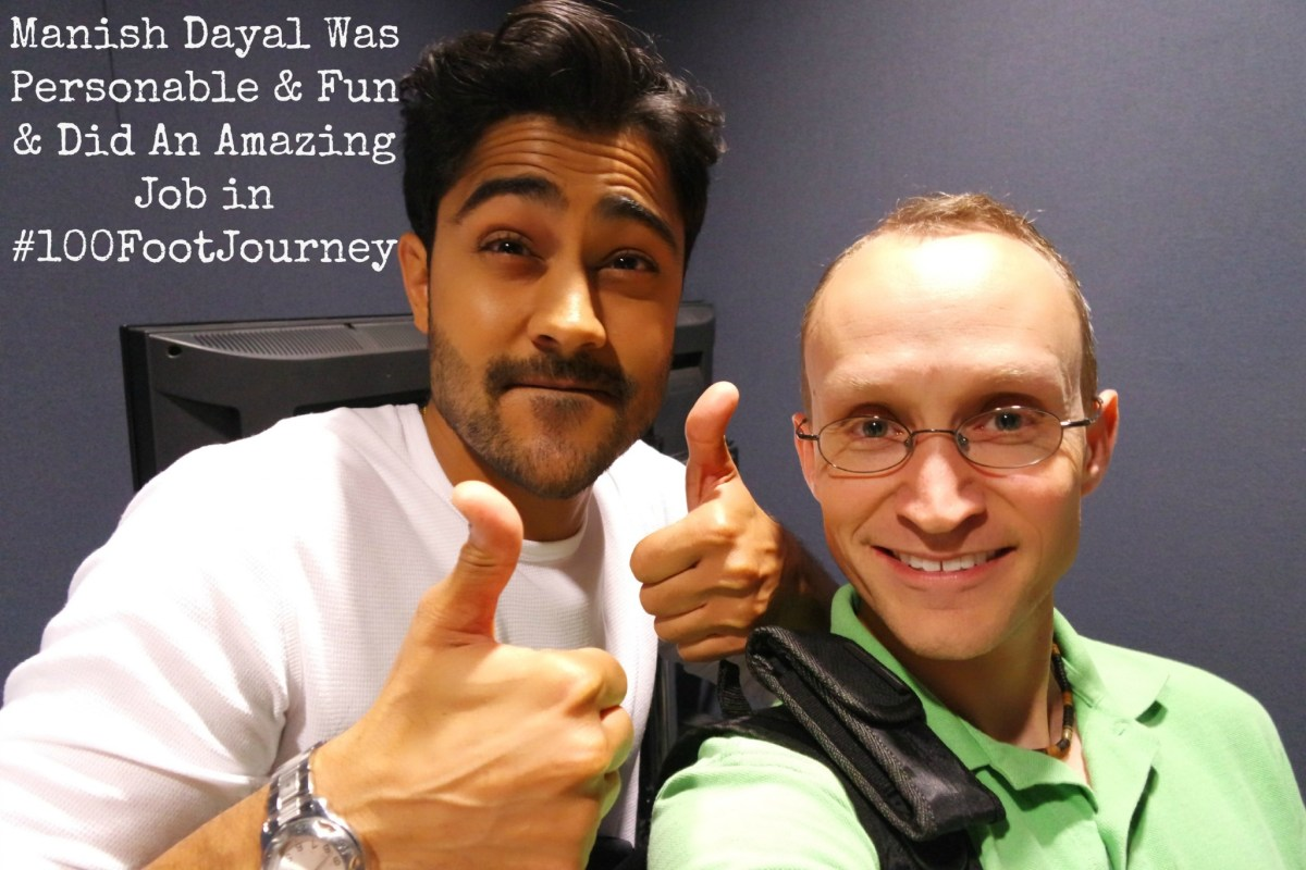 My Interview With Manish Dayal From #100FootJourneyEvent