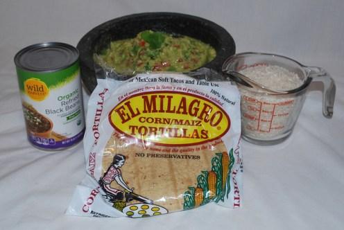 Veggie Tacos Ingredients