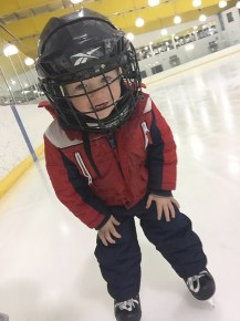 Our 2 year old ice skating