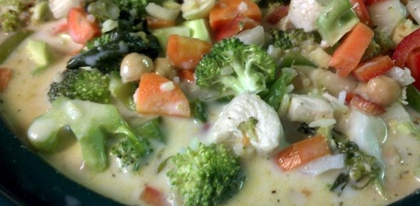 Crock Pot Curried Chicken and Vegetable Soup
